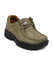 Men Mushroom Brown Leather Casual Shoes Woodland