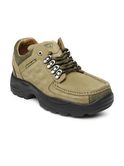 Woodland Men Khaki Leather Casual Shoes
