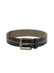 Wrangler Men Black Leather Belt