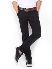 Wrangler Men Black Skanders Slim Fit Trousers