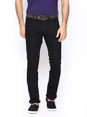 Wrangler Men Black Slim Fit Jeans