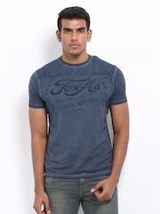 Wrangler Men Blue Printed T-shirt