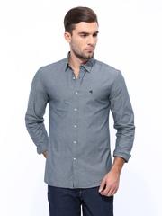 Wrangler Men Grey Slim Fit Casual Shirt