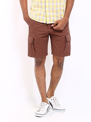 Wrangler Men Brown Cargo Shorts