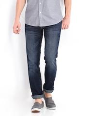 Wrangler Men Dark Blue Skanders Slim Fit Jeans
