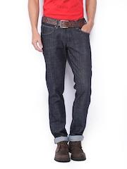 Wrangler Men Dark Blue Rockville Regular Fit Jeans