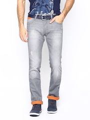 Wrangler Men Grey Skanders Fit Jeans
