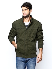 Wrangler Men Olive Green Jacket