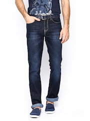 Wrangler Men Navy Slim Fit Jeans