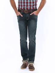 Wrangler Men Blue Greensboro Regular Fit Jeans