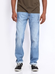 Wrangler Men Blue Floyd Regular Fit Jeans