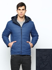 Wrangler Men Blue & Navy Padded Reversible Jacket