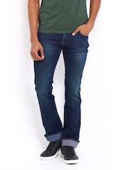 Wrangler Men Navy Skanders Slim Fit Jeans