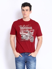 Wrangler Men Red Printed T-shirt