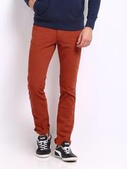 Wrangler Men Orange Skanders Slim Fit Jeans