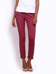 Wrangler Women Dark Pink Molly Super Slim Fit Jeans