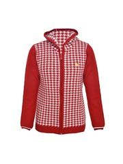 Boys Maroon & White Hooded Sweater Yellow Apple 550571