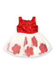 Yellow Kite Baby Girls Red & White Fit & Flare Dress