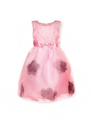 Yellow Kite Girls Pink Fit & Flare Dress