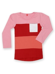 Yellow Kite Girls Red & Pink T-shirt