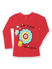 Yellow Kite Girls Red T-shirt