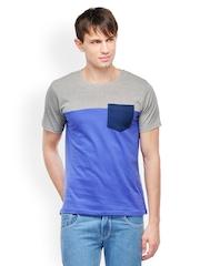 Yepme Men Blue & Grey T-Shirt
