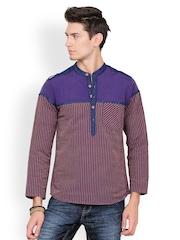 Yepme Men Purple Striped Kurta