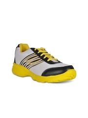 Yepme Men White & Yellow Sports Shoes