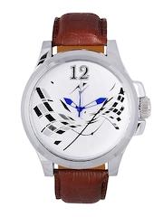 Yepme Men Brown & White Dial Watch YPMWATCH0736