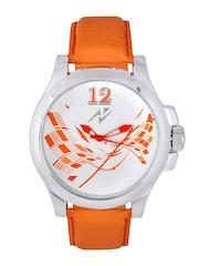 Yepme Men White & Orange Dial Watch YPMWATCH0738