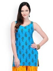 Yepme Women Blue Printed Kurti