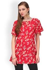 Yepme Women Red Printed Tunic