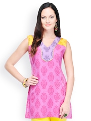 Yepme Women Pink Printed Kurti