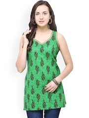 Yepme Women Green Printed Kurti