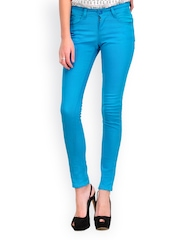 Yepme Women Blue Slim Fit Trousers