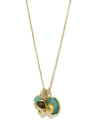 22-Carat Gold-Plated An Ode To Style Necklace With Semi-Precious Stones Zariin