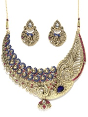 Zaveri Pearls Gold-Plated Jewellery Set