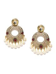 Zaveri Pearls Gold-Toned Drop Earrings