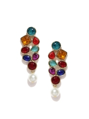 Zaveri Pearls Multicoloured Drop Earrings