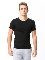 Zoiro Men Black Innerwear Vest Savio#250.6