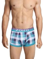 Zoiro Men Blue & Purple Checked Trunks Trento 0072