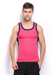 Zoiro Men Pink Innerwear Vest Trento 009.5
