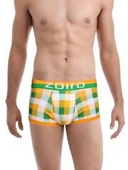 Zoiro Men Yellow & Green Checked Trunks Trento 0072
