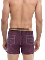 Zoiro Purple Denim-Look Boxers 4104