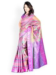 Pink Banarasi Jacquard Fashion Saree Zoom