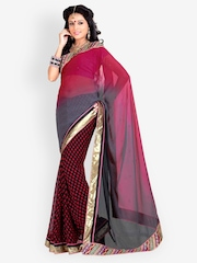Zoom Red Chiffon Fashion Saree
