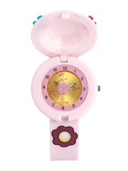 Zoop Girls Gold Toned Dial Watch