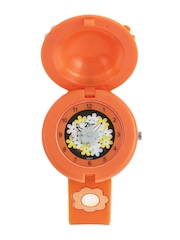 Zoop Girls Multi-Coloured Floral Print Dial Watch