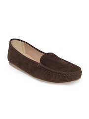 Zuicy Women Brown Suede Loafers
