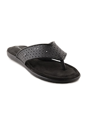 Rockport Women Jeanie Thong Perf Black Sandals